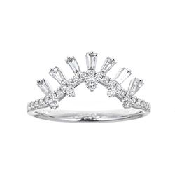 0.47 ctw Diamond Ring - 18KT White Gold