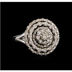 14KT White Gold 1.28 ctw Brilliant Cut Diamond Ring