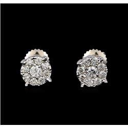0.71 ctw Diamond Earrings - 14KT White Gold