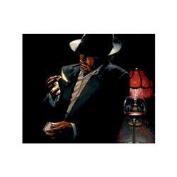 Man Lighting Cigarette II by Perez, Fabian