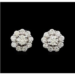 14KT White Gold 1.97 ctw Diamond Earrings