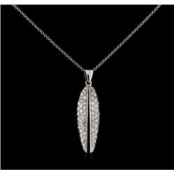 0.82 ctw Diamond Pendant With Chain - 14-18KT White Gold