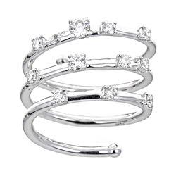 0.6 ctw Diamond Ring - 18KT White Gold