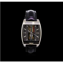 Corum 18KT White Gold Golden Bridge Automatique Watch