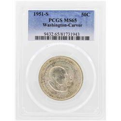 1951-S Washington-Carver Commemorative Half Dollar Coin PCGS MS65