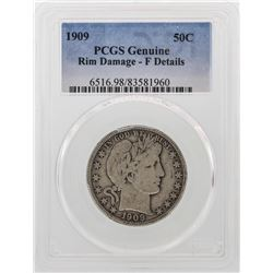 1909 Barber Half Dollar Silver Coin PCGS Fine Details