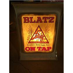 Blatz On Tap Beer sign
