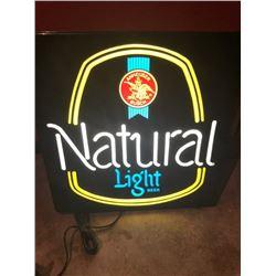 Natural Light Beer sign