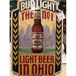 Bud Light Ohio 1991 Sign