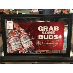 Grab Some Buds Budweiser mirror sign
