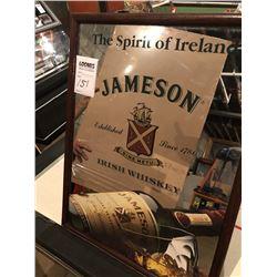 Jameson Irish Whiskey Mirror Sign