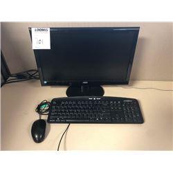 AOC Monitor, E-Machines Keyboard, Mouse, No Tower