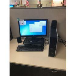 HP Monitor, HP Tower, Monitor Stand, Speakers, E-machines Keyboard