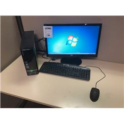 BUNDLE LOT: 2 HP Monitors, 2 E-machines Towers, 2 Keyboards, 2 Mouse, Monitor Stand