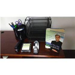 Desk Lot With Spiritual Book