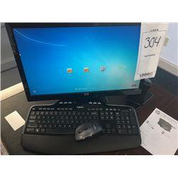 HP Monitor, Logitech Keyboard, Speaker, HP Tower