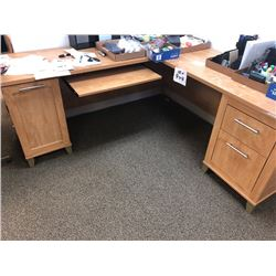 2 Pc Desk w/ Filing Cabinet