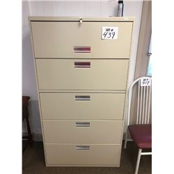 HON 5 Drawer File Cabinet