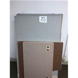 4 Panel Cubicle w/ Desk Attachment