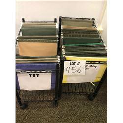 Pair of Rolling Wire File Folder Racks