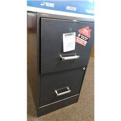 2 Drawer File Cabinet, Black