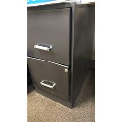 2 DRAWER METAL w LOCK - LOC #1