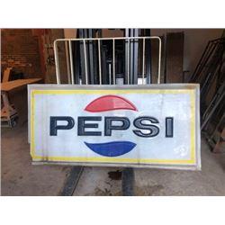 Vintage Pepsi 6ft X 3ft Sign