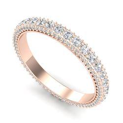2.50 CTW VS/SI Diamond Art Deco Eternity Men's Band Size 10 18K Rose Gold - REF-200W2F - 37209