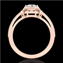 0.53 CTW VS/SI Diamond Solitaire Art Deco Ring 18K Rose Gold - REF-136K4W - 36870