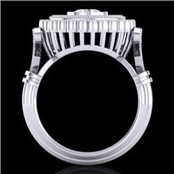 2.03 CTW VS/SI Diamond Solitaire Art Deco Ring 18K White Gold - REF-270F2N - 37079