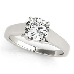 1 CTW Certified VS/SI Diamond Solitaire Ring 18K White Gold - REF-357Y3K - 28152