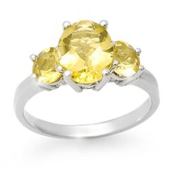 2.55 CTW Citrine Ring 10K White Gold - REF-21T3M - 13671
