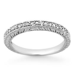 0.20 CTW Certified VS/SI Diamond Ring 18K White Gold - REF-41T8M - 13654
