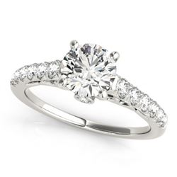 1.5 CTW Certified VS/SI Diamond Solitaire Ring 18K White Gold - REF-385T6M - 27597