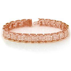 7.0 CTW Certified VS/SI Diamond Bracelet 14K Rose Gold - REF-420X8T - 14079