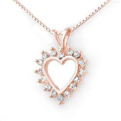 0.25 CTW Certified VS/SI Diamond Pendant 18K Rose Gold - REF-29T5M - 13231