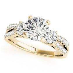 1.25 CTW Certified VS/SI Diamond 3 Stone Ring 18K Yellow Gold - REF-208A5X - 28025