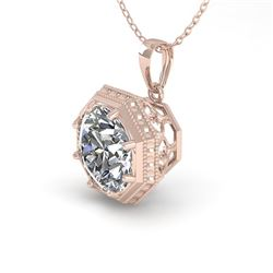 0.50 CTW Certified VS/SI Diamond Necklace 18K Rose Gold - REF-97T3M - 35990