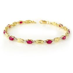 3.25 CTW Ruby Bracelet 10K Yellow Gold - REF-45H5A - 11784