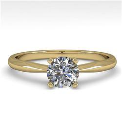0.50 CTW VS/SI Diamond Engagement Designer Ring 18K Yellow Gold - REF-107T3M - 32383