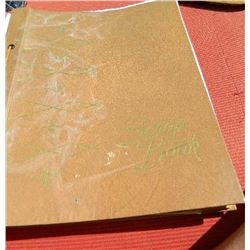 SCRAP BOOK - BAILEY BANTAM FOOTBALL - INCLUDES NEWSPAPER CLIPPINGS AND MORE