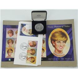 Estate Lady Diana Lot - Collector Stamps, Cover Co