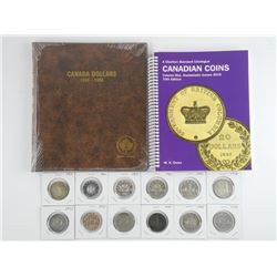 Canada Silver Dollar - Collection 12 Coins with Un