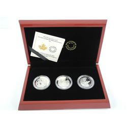 """Cornelius Krighoff"" 200th Anniversary Set 3x$5.00 9.9 Fine Silver Coins - LE w/COA Sold Out Set. (M"