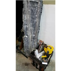 LONG CASE FULL OF DRYWALL TOOLS