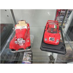 Two Burago diecast cars
