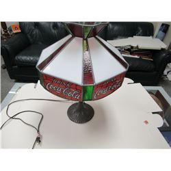 Coca-Cola Tiffany style lamp