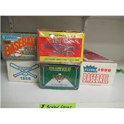 5 Sealed Boxes of Baseball Cards