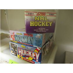 3 Boxes of Unopened Hockey Cards