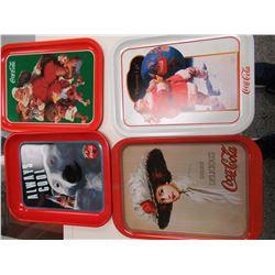 4 Coca-Cola Trays